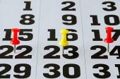 Encontro marcado no calendário — Fotografia Stock