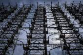 "Radar system array ""Duga"" in Chernobyl — 图库照片"