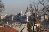 Scenic view of the Hungarian Parliament  — Stock Photo