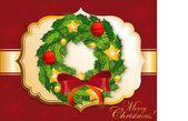 Noel çelenk — Stok Vektör