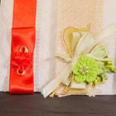 Colored Wedding invitation — Stock Photo