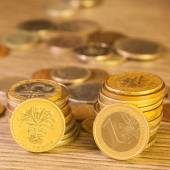 Old Coins stacked — Stock Photo