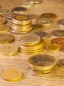 Old Stacked coins — Stock Photo