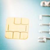 Credit card Chip — Stock Photo