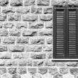 Window on the wall of basalt — Stockfoto #71213025