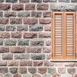 Window on the wall of basalt — Stockfoto #71214231