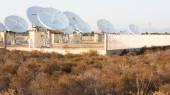 Teleport satellite communications — Stock Photo