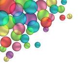 Bubbels geïsoleerd op wit — Stockvector
