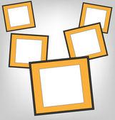 Orange frames on grayscale  — Stockvector