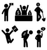 Business finance icons — Stock Vector