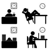 Work process icons — Stock Vector