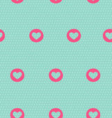 Seamless pattern with heart on light blue  — Stock Vector