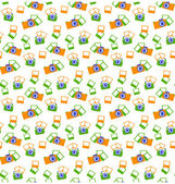 Seamless photo cameras pattern isolated on white — Stock Vector