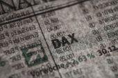German Stock Index Macro Concept — Stok fotoğraf