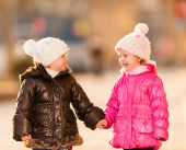 Two young childs. Outdoors shot — Stock Photo