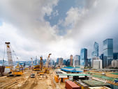 One of many construction sites in Hong Kong. — Stock Photo