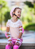 Adorable Roller Skating Girl — Stock Photo