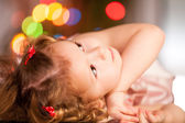 Portrait of a beautiful little girl. indoors shoot — Stock Photo
