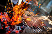 Outdoor BBQ Grill. — Stock Photo