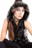 A young girl in her winter cold weather clothing — Stock Photo
