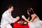 Shotgun Wedding - The battle for a heart — Stock Photo