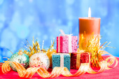 Christmas scene. Small DOF — Stock Photo