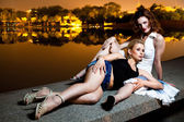 Two Sexy Girls. Outdoors shot — Stock Photo
