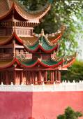 Pagodas on the site of Fahua Temple — Foto Stock