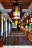 Corridor in an old Chinese house — Stock Photo