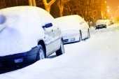 Cars in the Snow — Stock Photo