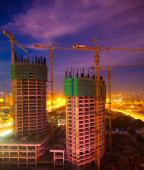 One of many construction sites in Beijing — Stock Photo