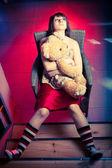 Young teenager girl, indoors shoot. — 图库照片