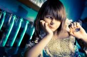 Young teenager girl, indoors shoot. — Stock Photo