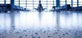 Airport Departures terminal — Stock Photo