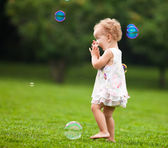 Blow bubbles — Stock Photo