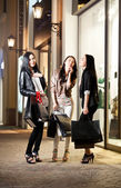 Three young asian woman shopping — Stock Photo