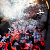 Outdoor BBQ Grill. — Fotografia Stock