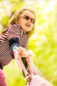 Girl Riding a Bike — Stock Photo