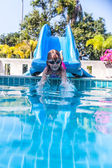 Vid pool — Stockfoto