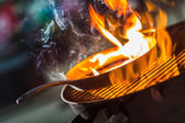 Outdoor BBQ Grill — Stock Photo