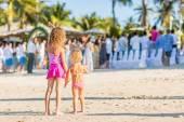 Girls looks at wedding ceremony — Stock Photo