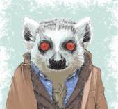 Dapper Lemur Illustration — Stock Photo