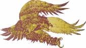 Screaming Eagle Vector Illustration — Stock Vector