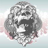 Mystical Skull Illustration — Stockvektor