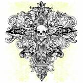 Skull Cross Illustration — Stockvektor