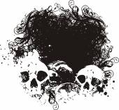 Fear Grunge Illustration — Stock Vector