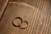 Anelli di nozze d'oro — Foto Stock