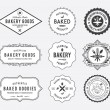 Bakery goods badges black and white — Stock Vector #57312857