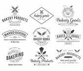 Bakery BW — Stock Vector