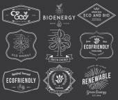 Bio and Eco Energy 2 black — Stock Vector